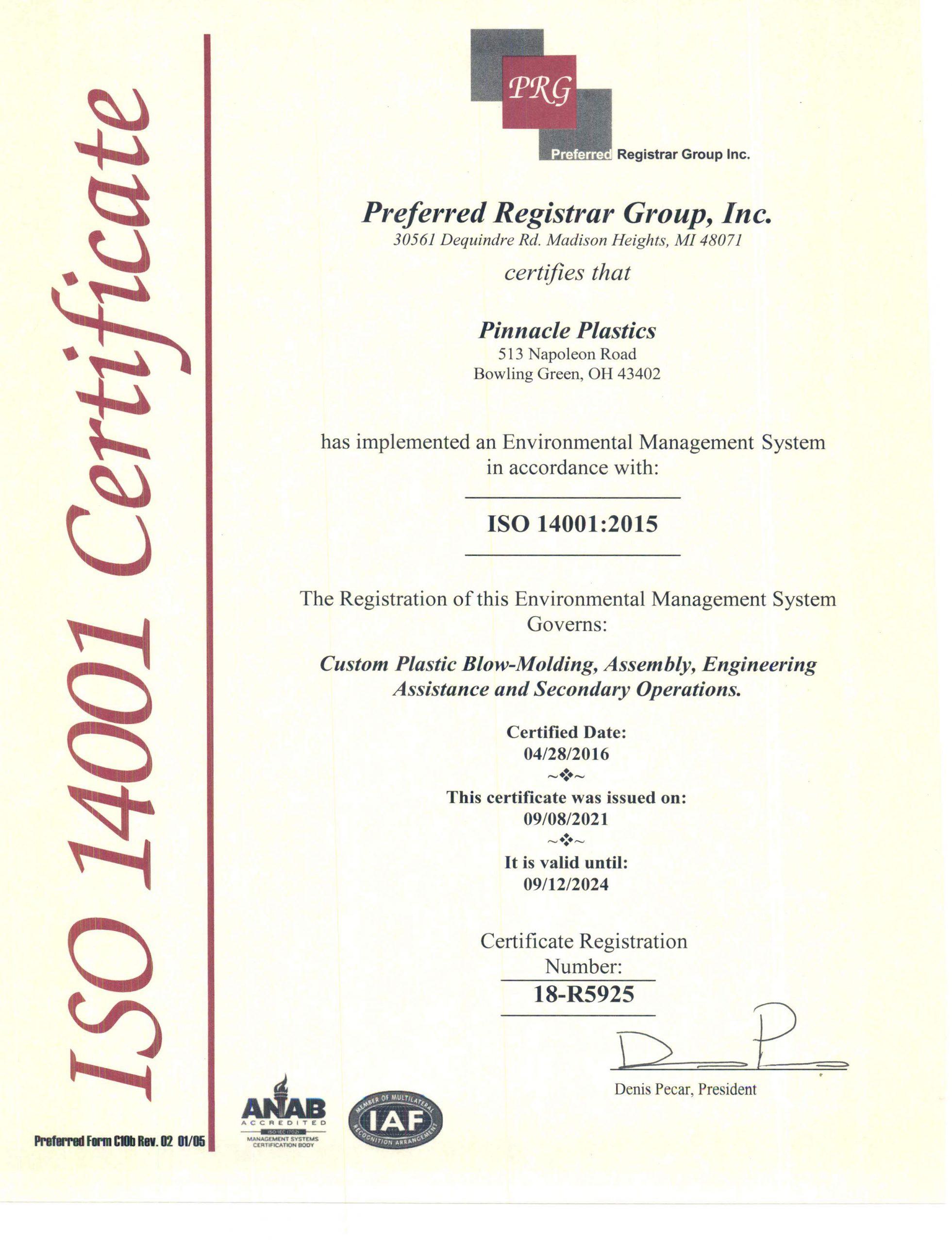 Certificate-14001-2021