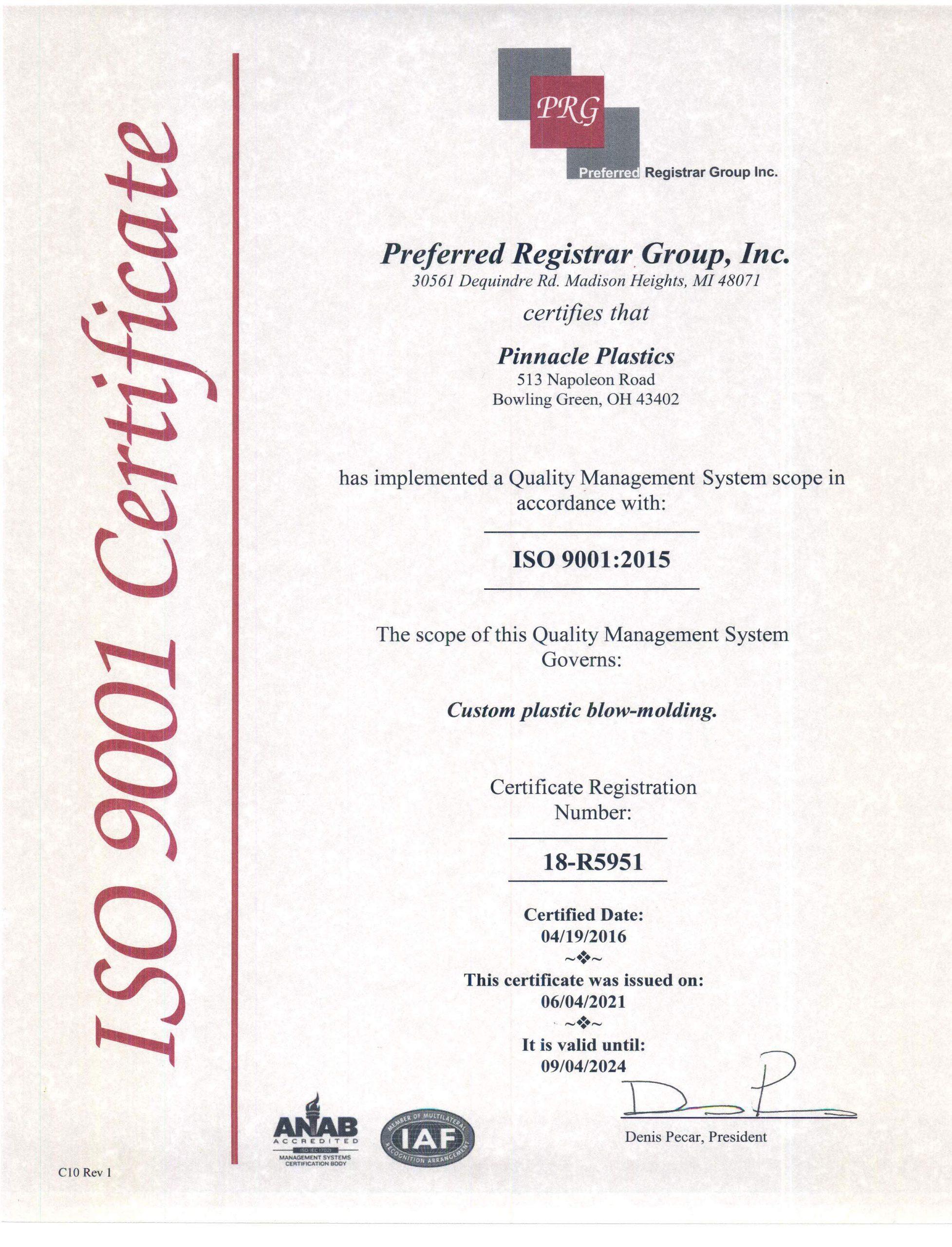 Certificate-9001-2021